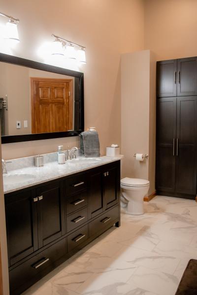 Bathroom Vanity and Floor