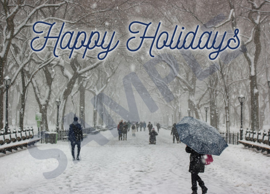 Happy Holidays Real Estate Postcard